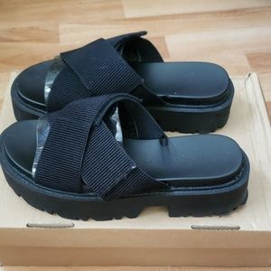 Black platform Zara sandals
